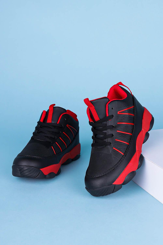 Czarne buty sportowe sznurowane Casu 201I/BR czarny