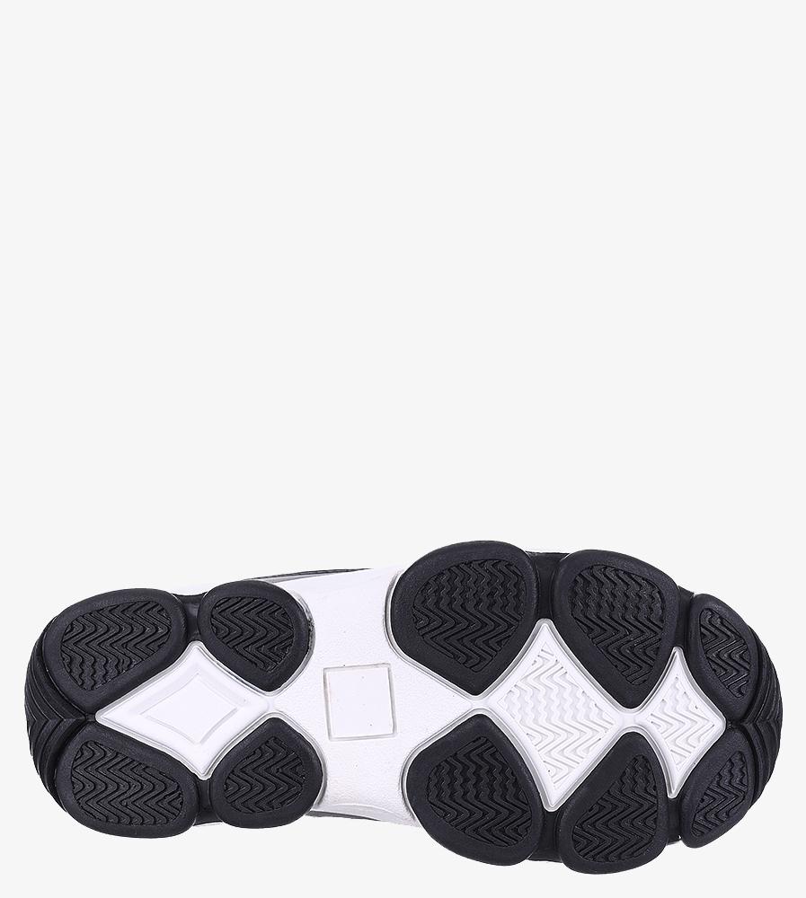Czarne buty sportowe sznurowane Casu 201I/BW kolor biały, czarny