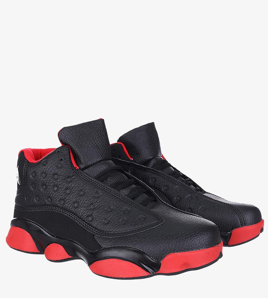 Czarne buty sportowe sznurowane Casu 201J/BR1 czarny
