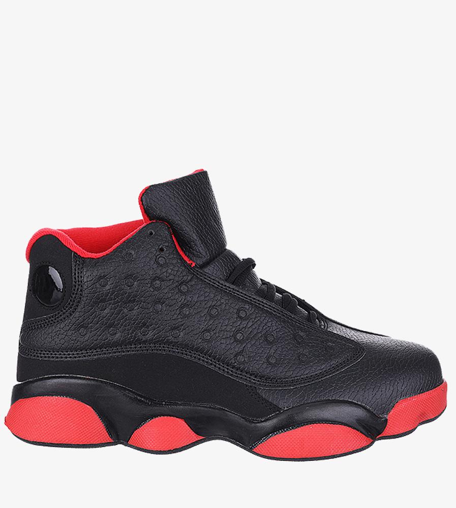 Czarne buty sportowe sznurowane Casu 201J/BR6 czarny