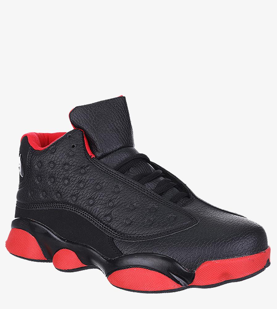 Czarne buty sportowe sznurowane Casu 201J/BR6  model 201J/BR6 1806