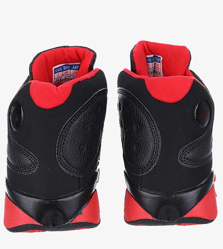 Czarne buty sportowe sznurowane Casu 201J/BR6  wysokosc_platformy 1.5 cm