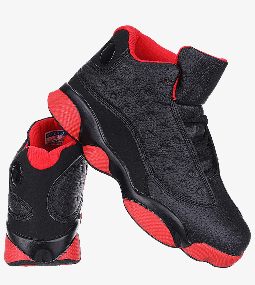 Czarne buty sportowe sznurowane Casu 201J/BR6  wys_calkowita_buta 12 cm