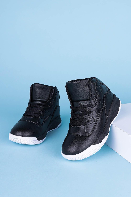 Czarne buty sportowe sznurowane Casu 201K/BW6 czarny