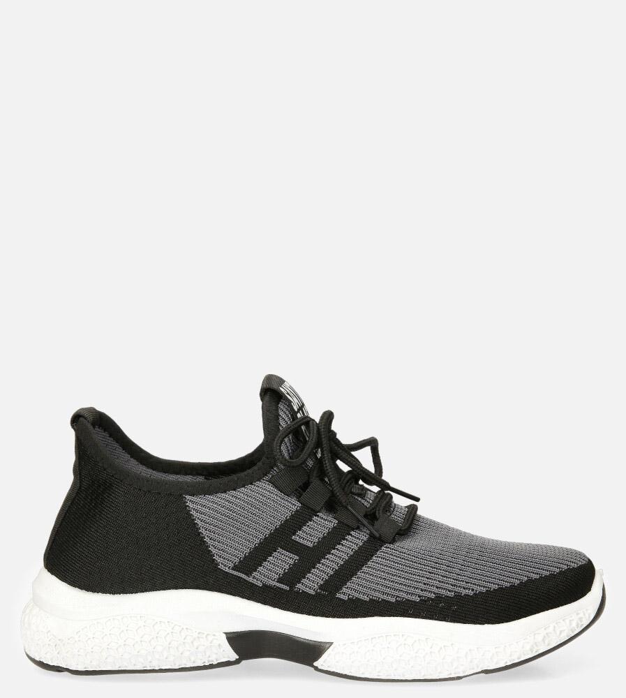 Czarne buty sportowe sznurowane Casu 204/21B czarny