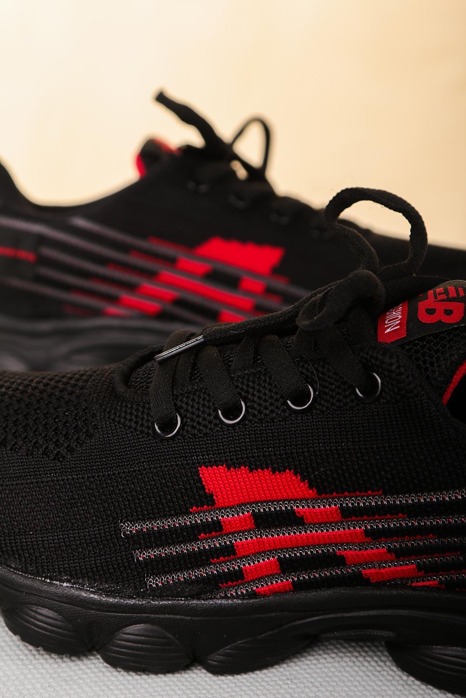 Czarne buty sportowe sznurowane Casu 204/31R  czarny