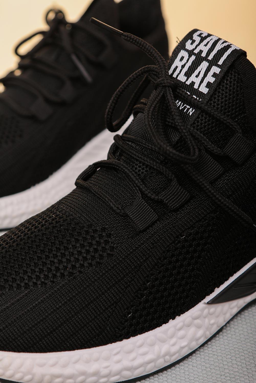 Czarne buty sportowe sznurowane Casu 204/42B czarny