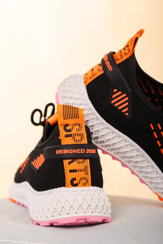 Czarne buty sportowe sznurowane Casu 204/43B  czarny
