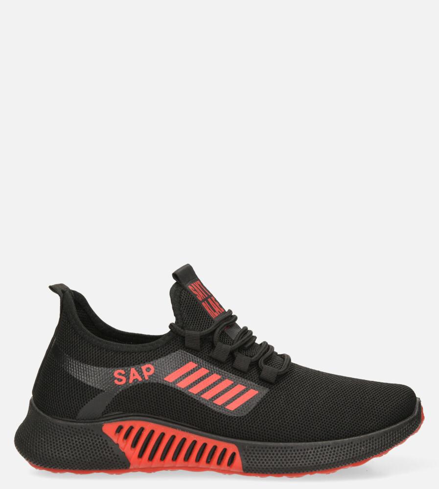 Czarne buty sportowe sznurowane Casu 204/45B+R model 204/45B+R 202-25