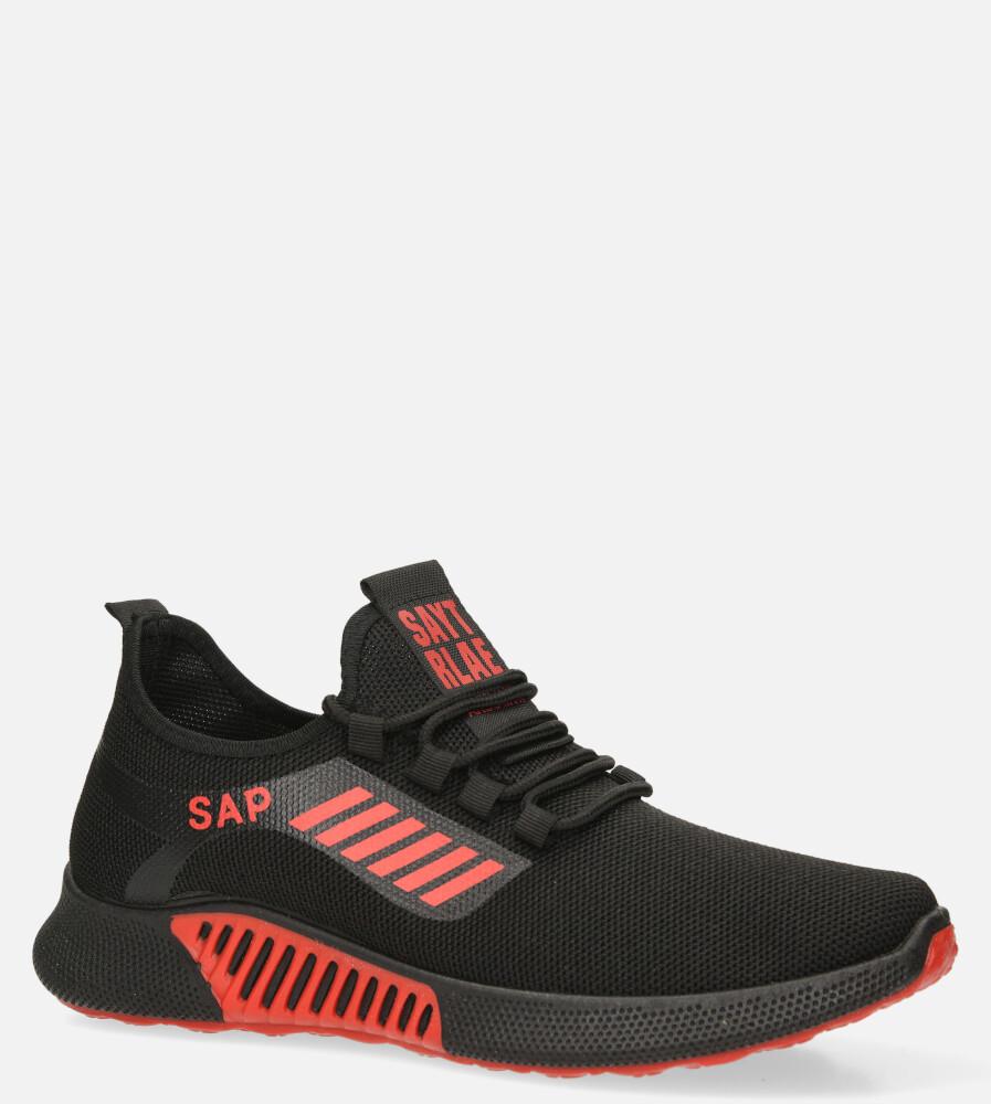 Czarne buty sportowe sznurowane Casu 204/45B+R sezon Całoroczny