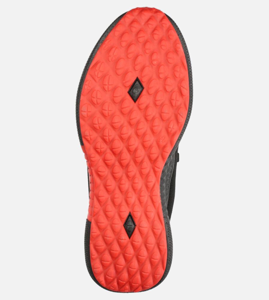 Czarne buty sportowe sznurowane Casu 204/45B+R wysokosc_platformy 2.5 cm