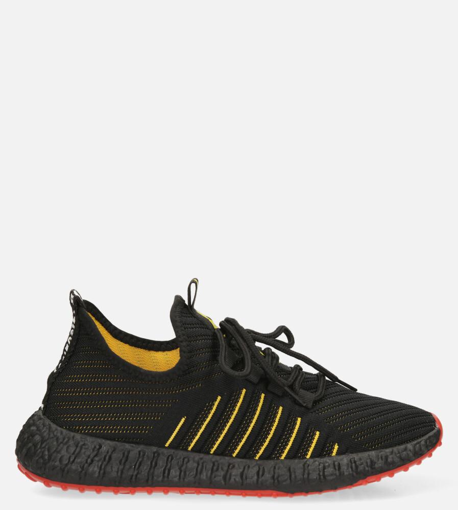 Czarne buty sportowe sznurowane Casu 204/46B+R