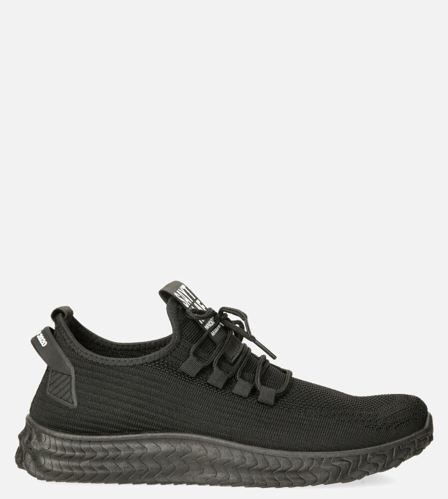 Czarne buty sportowe sznurowane Casu 20A10/B