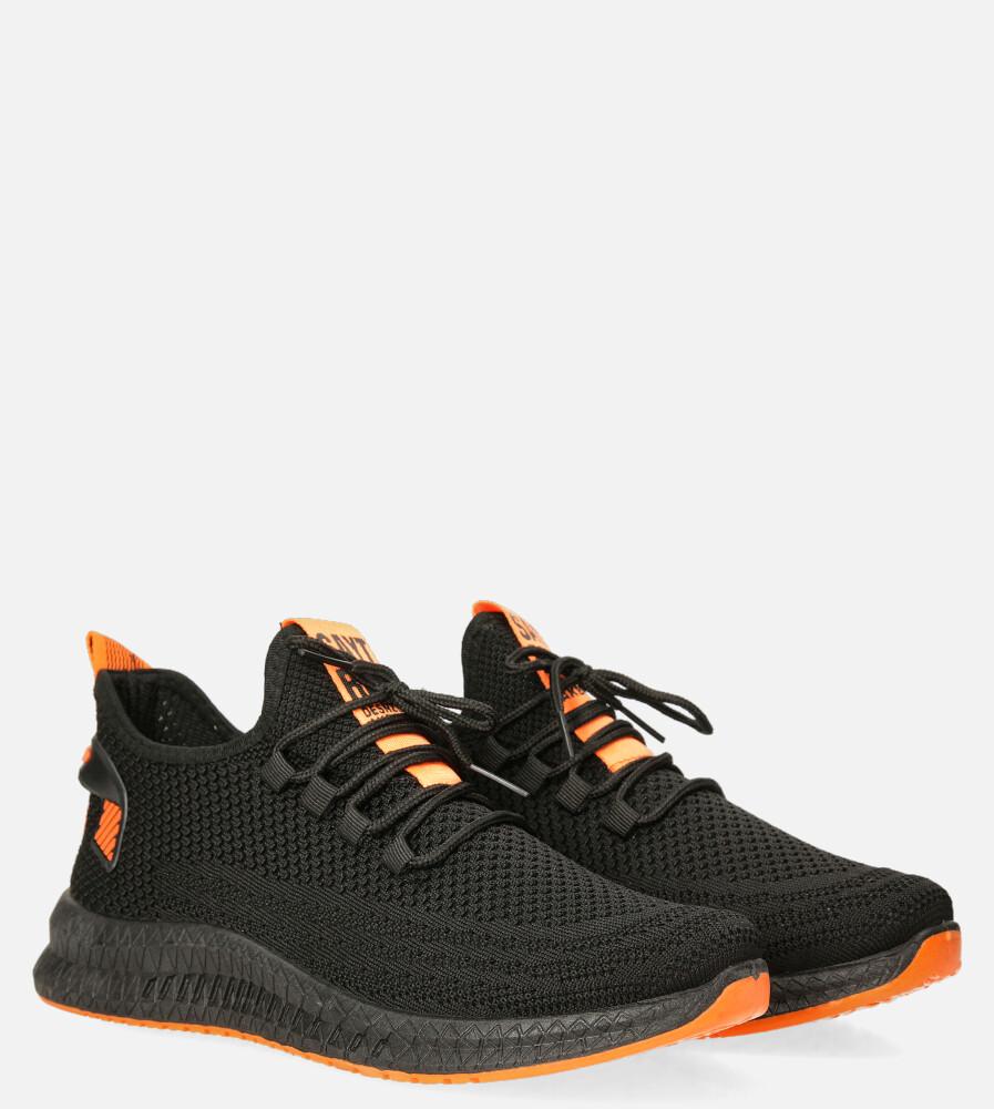 Czarne buty sportowe sznurowane Casu 20A12/B czarny