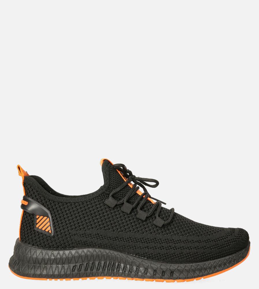 Czarne buty sportowe sznurowane Casu 20A12/B model 20A12/B