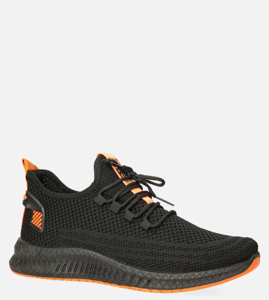 Czarne buty sportowe sznurowane Casu 20A12/B sezon Całoroczny