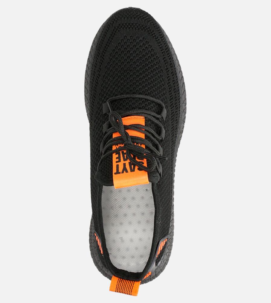 Czarne buty sportowe sznurowane Casu 20A12/B wysokosc_platformy 1 cm