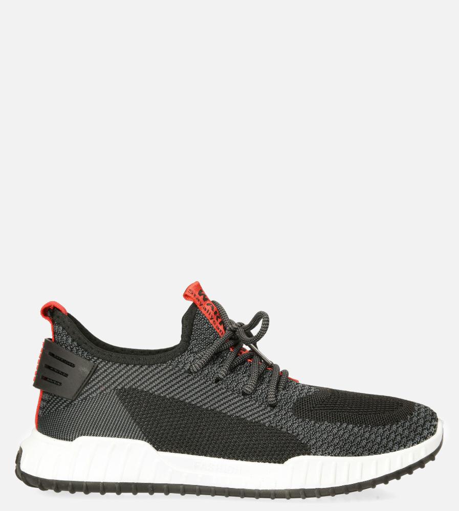 Czarne buty sportowe sznurowane Casu 20A14/B