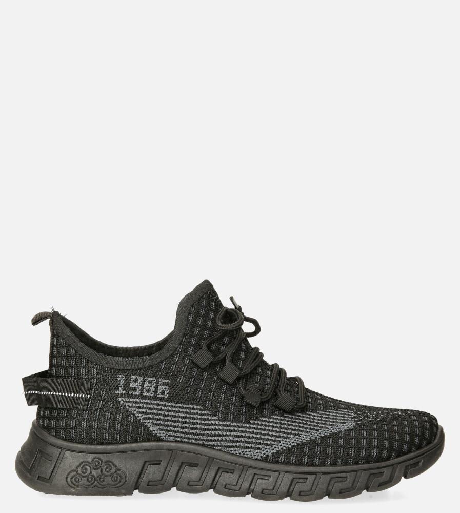Czarne buty sportowe sznurowane Casu 20A16/B czarny