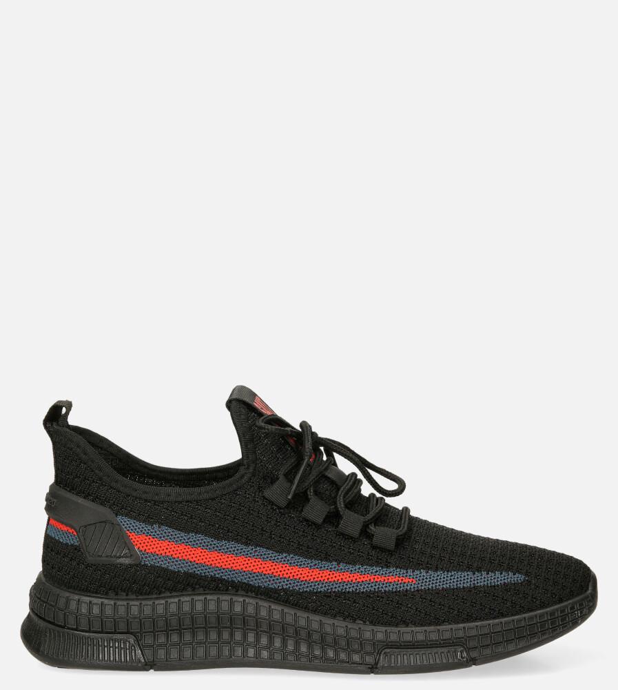 Czarne buty sportowe sznurowane Casu 20A20/BR czarny