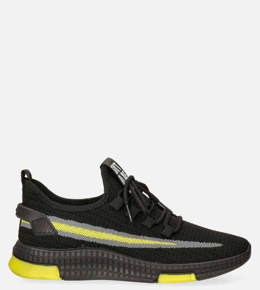 Czarne buty sportowe sznurowane Casu 20A20/BY