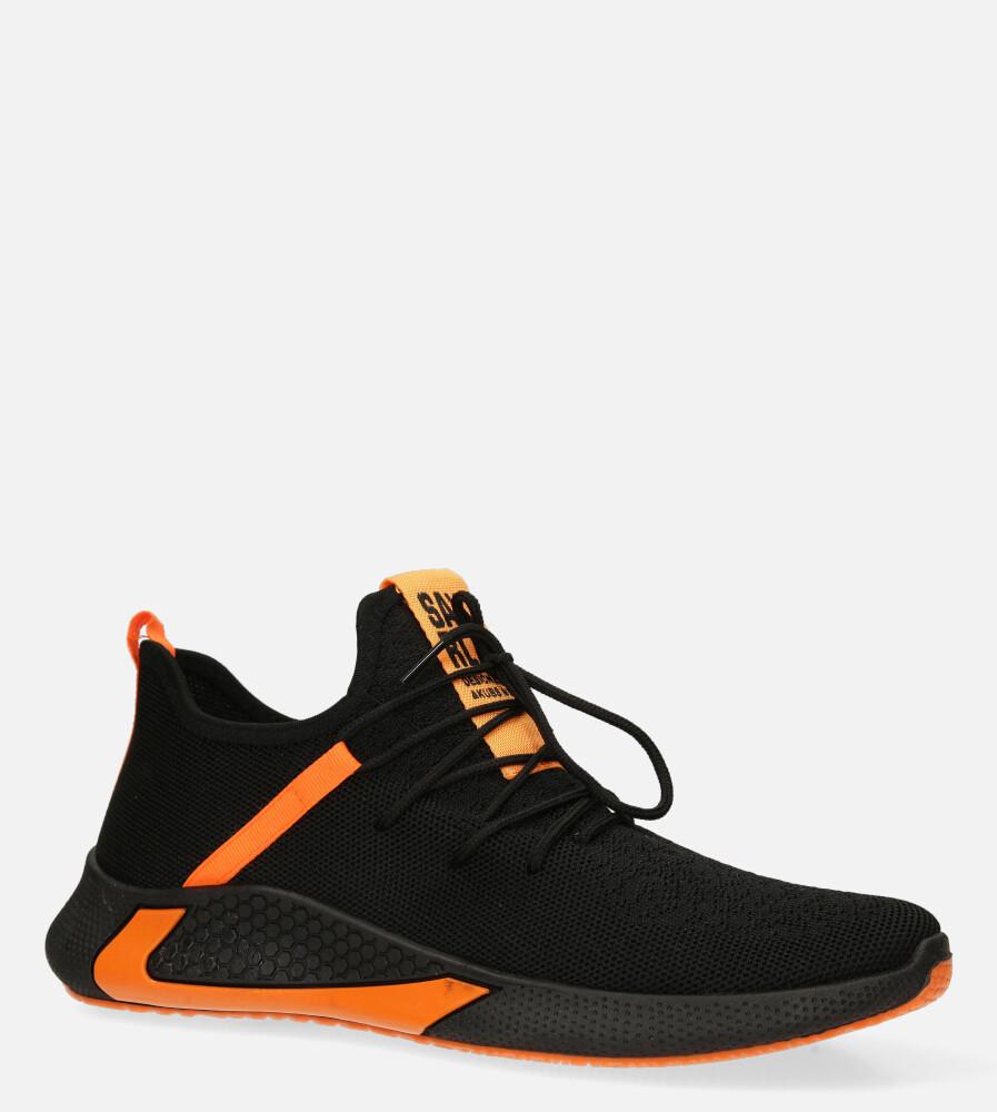 Czarne buty sportowe sznurowane Casu 20A8/O  producent Casu