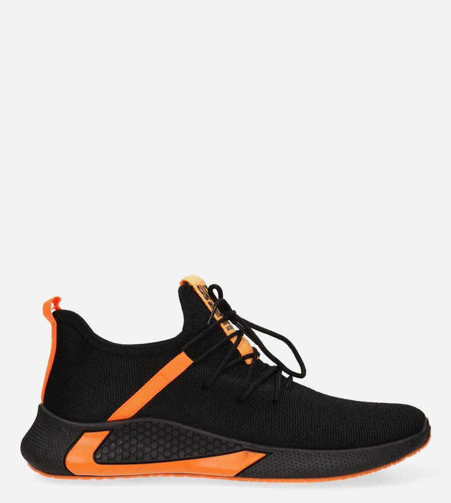 Czarne buty sportowe sznurowane Casu 20A8/O czarny
