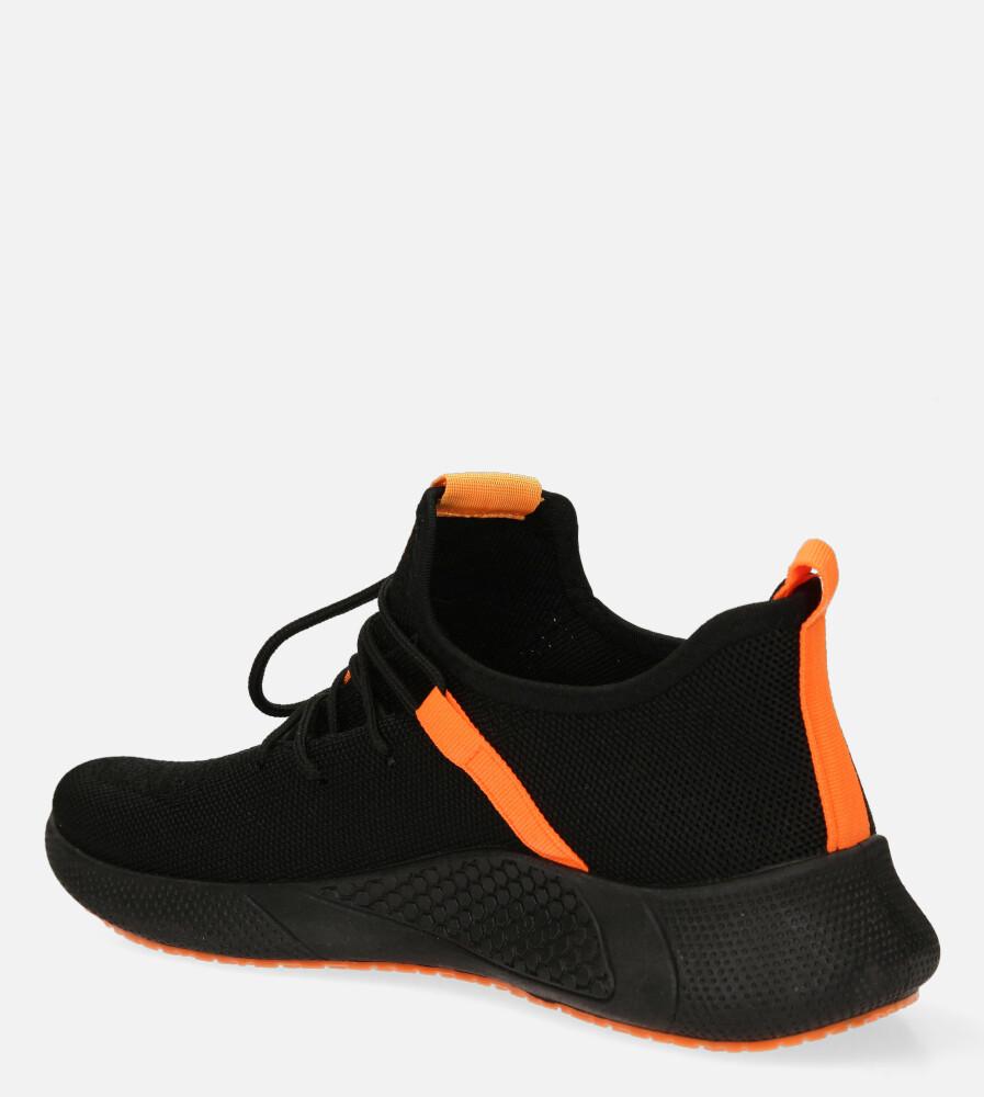 Czarne buty sportowe sznurowane Casu 20A8/O  sezon Całoroczny