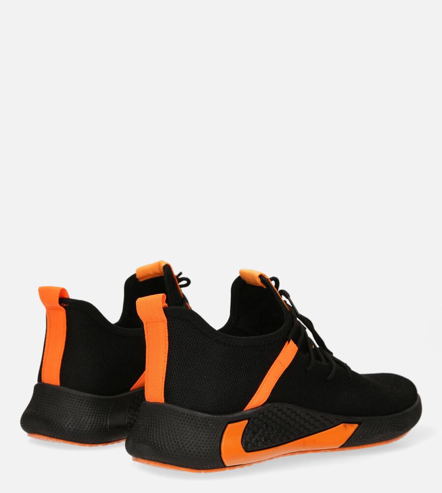 Czarne buty sportowe sznurowane Casu 20A8/O  wysokosc_obcasa 4 cm