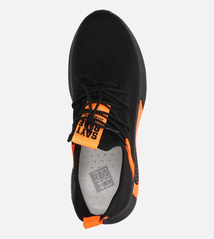 Czarne buty sportowe sznurowane Casu 20A8/O  wysokosc_platformy 1 cm