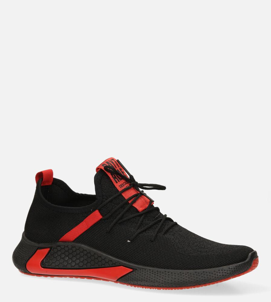 Czarne buty sportowe sznurowane Casu 20A8/R czarny