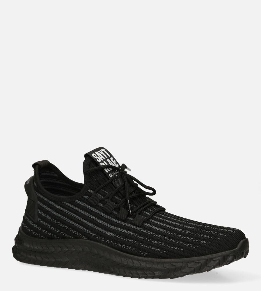 Czarne buty sportowe sznurowane Casu 20A9/B producent Casu