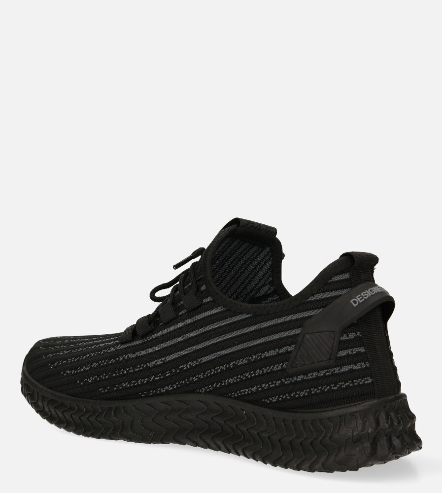 Czarne buty sportowe sznurowane Casu 20A9/B sezon Całoroczny