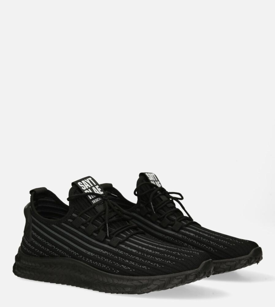 Czarne buty sportowe sznurowane Casu 20A9/B kolor czarny
