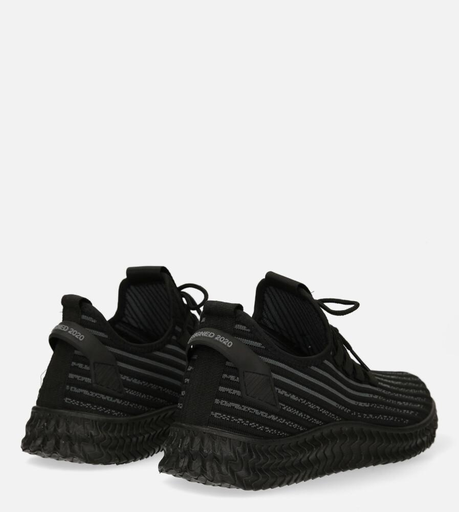 Czarne buty sportowe sznurowane Casu 20A9/B wysokosc_obcasa 3 cm