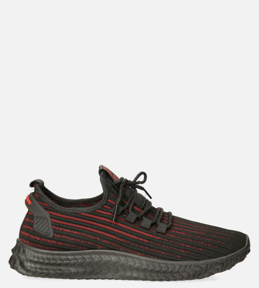 Czarne buty sportowe sznurowane Casu 20A9/R czarny