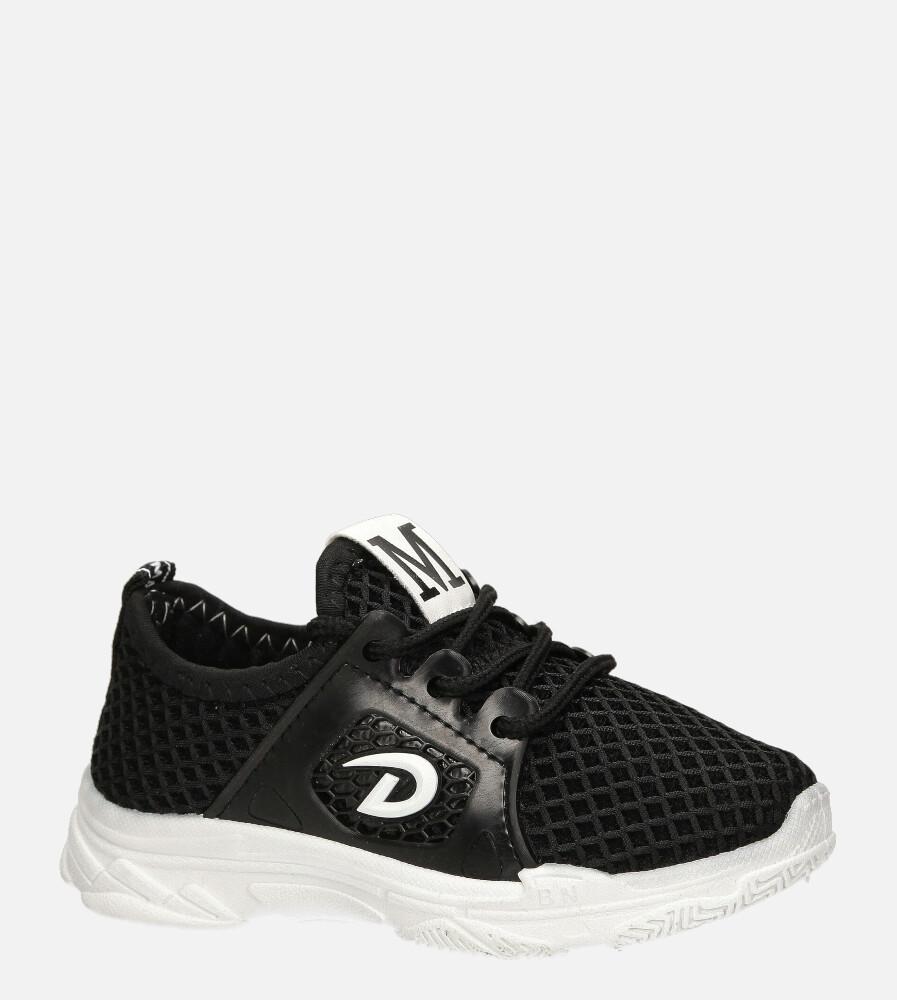 Czarne buty sportowe sznurowane Casu 20B1/B producent Casu