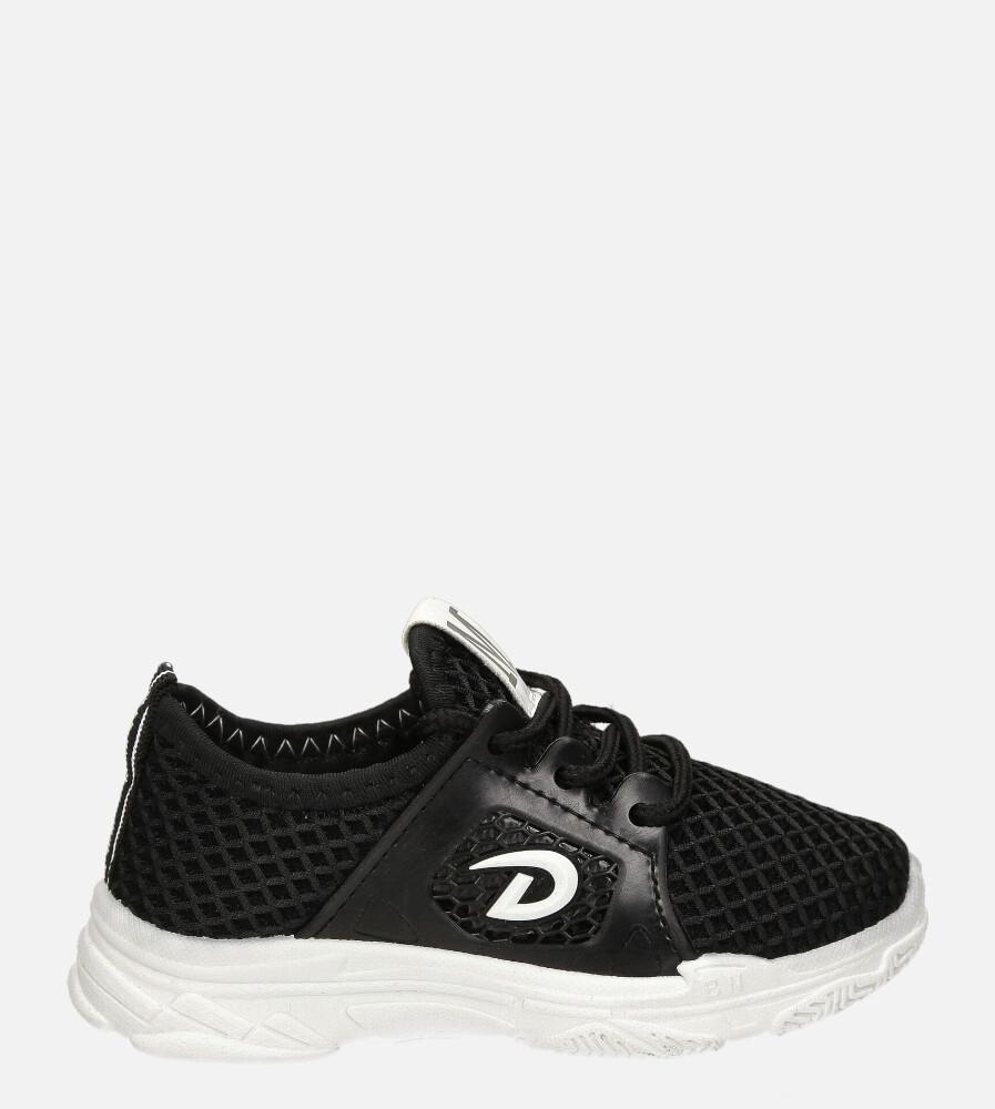 Czarne buty sportowe sznurowane Casu 20B1/B