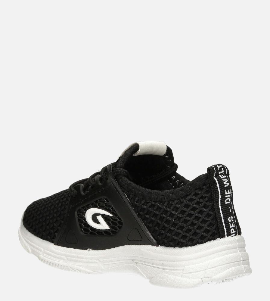 Czarne buty sportowe sznurowane Casu 20B1/B sezon Całoroczny