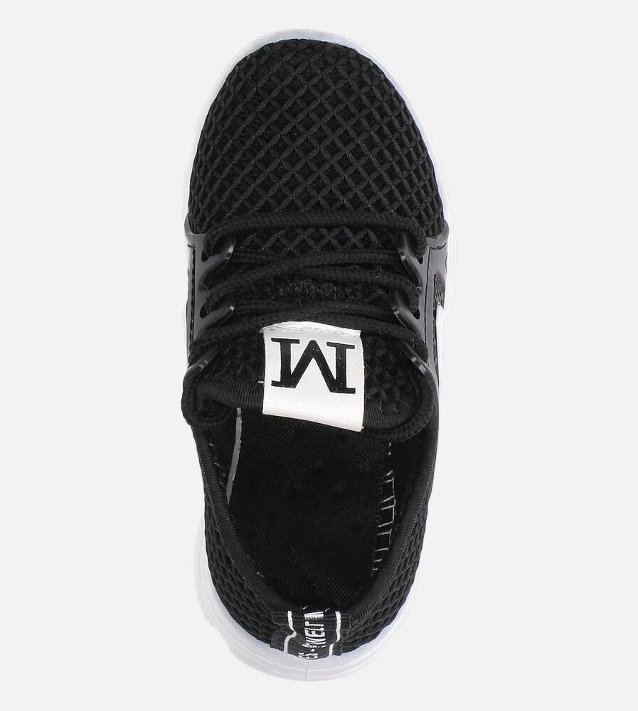 Czarne buty sportowe sznurowane Casu 20B1/B kolor czarny