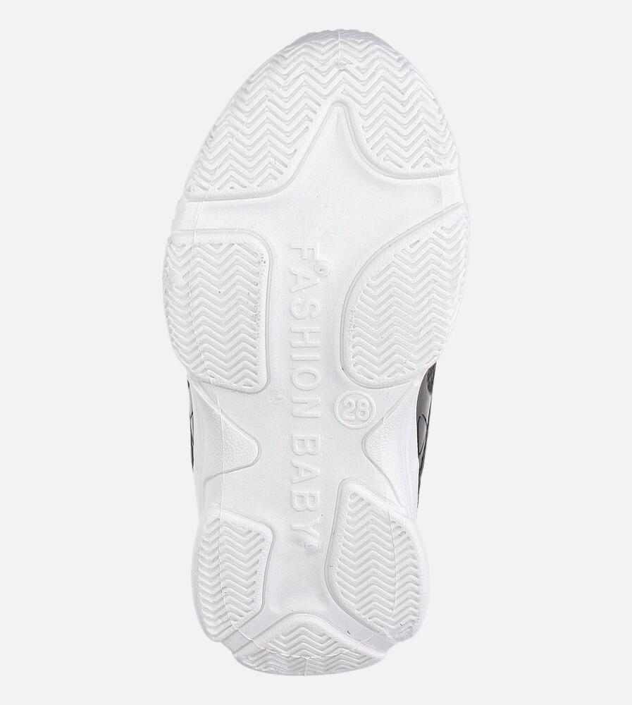 Czarne buty sportowe sznurowane Casu 20B1/B wysokosc_obcasa 2.5 cm