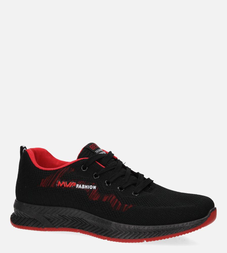Czarne buty sportowe sznurowane Casu 20F2/B czarny