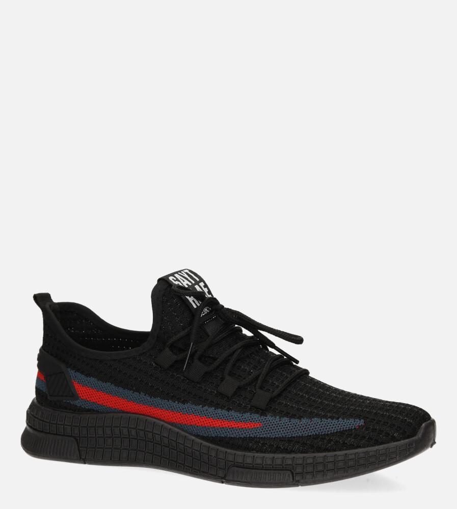 Czarne buty sportowe sznurowane Casu 20F3/B  producent Casu