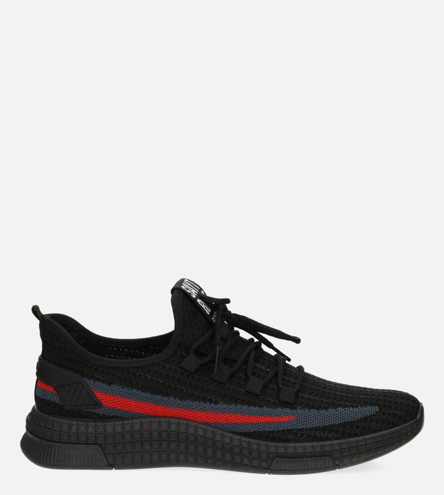 Czarne buty sportowe sznurowane Casu 20F3/B  model 20F3/B