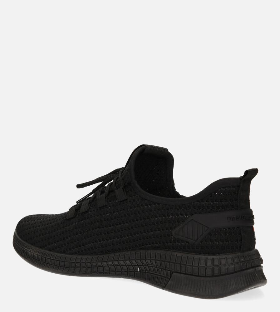 Czarne buty sportowe sznurowane Casu 20F3/B  sezon Całoroczny