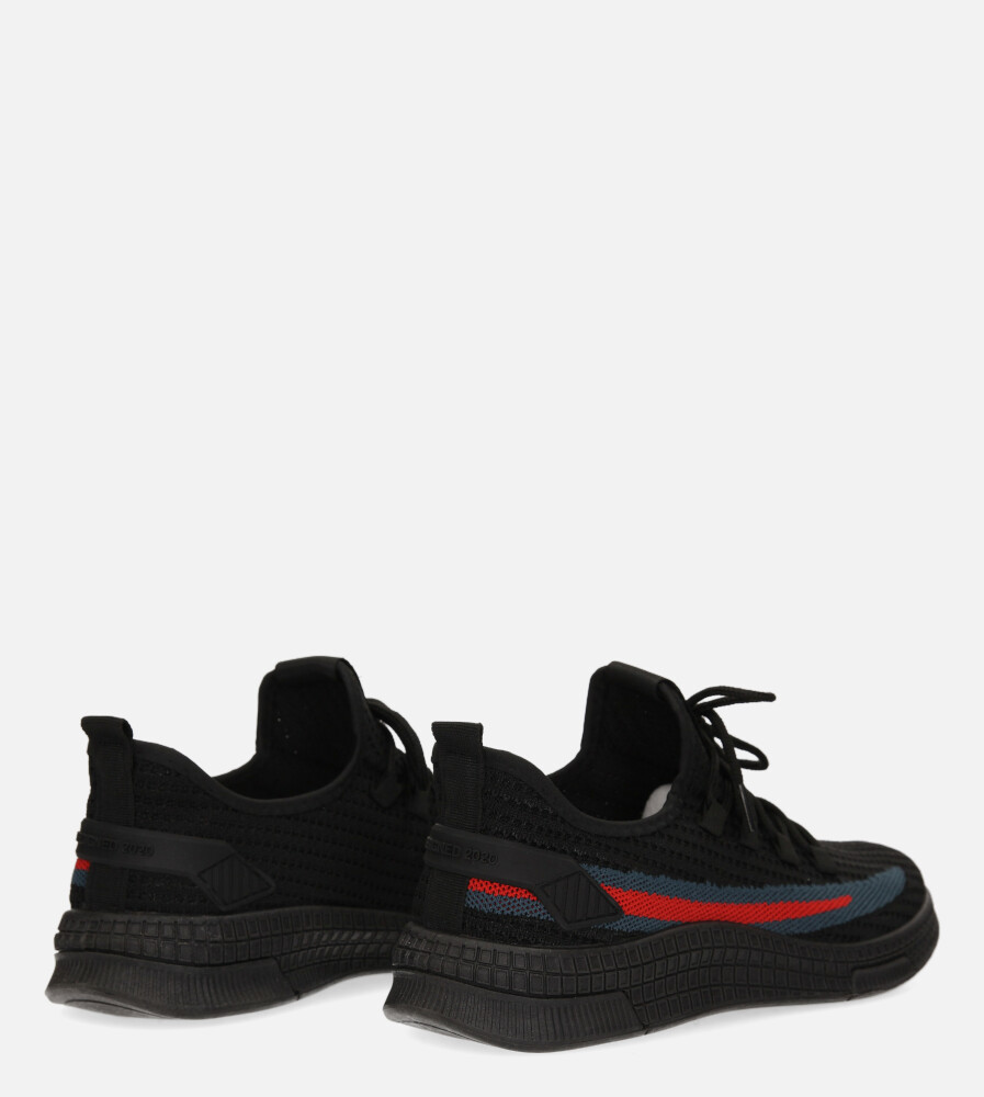 Czarne buty sportowe sznurowane Casu 20F3/B  wysokosc_obcasa 3.5 cm