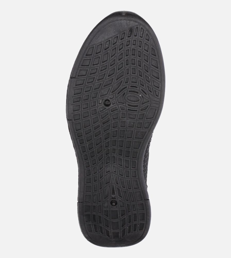 Czarne buty sportowe sznurowane Casu 20F3/B  wys_calkowita_buta 15 cm