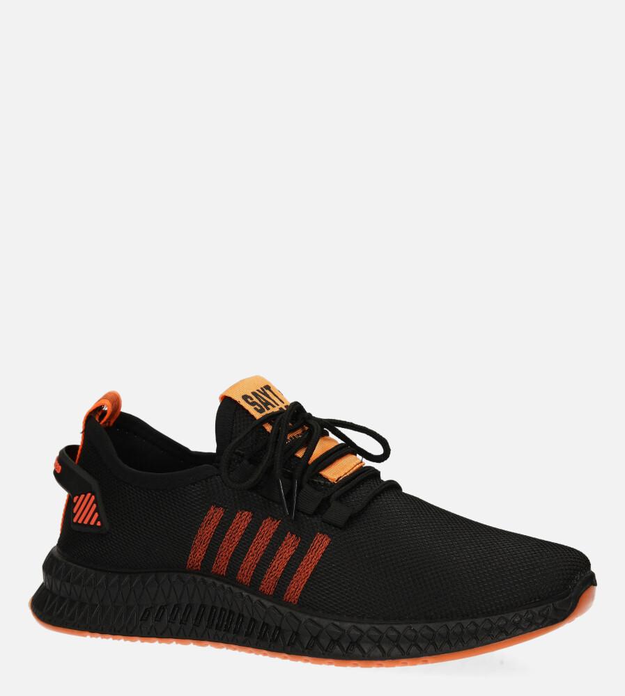 Czarne buty sportowe sznurowane Casu 20F4/B