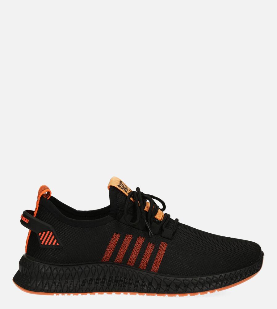 Czarne buty sportowe sznurowane Casu 20F4/B czarny