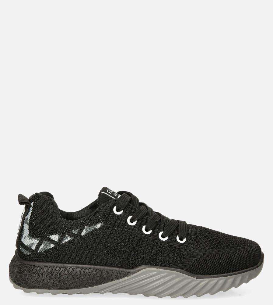 Czarne buty sportowe sznurowane Casu 20O15/B czarny